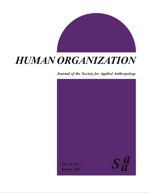Cover of the Human Organization Publication