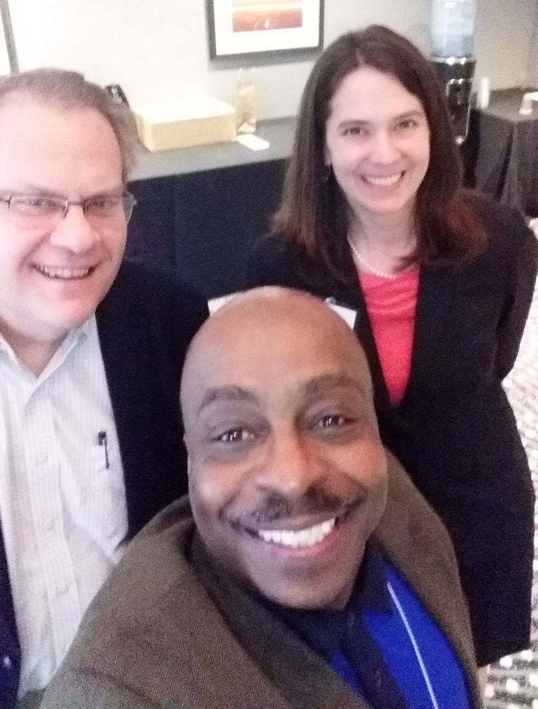 Selfie with Eric Bailey, Chair of the HRSJ Committee; Neil Hann, Executive Director; and Jennifer Weis, SfAA Treasurer