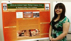 2016 Valene Smith Poster Prize 1st Place Winner Donna Kelley and her poster