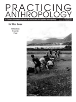 Cover of the Practicing Anthropology Publication